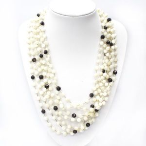 Jay King DTR 925 Mother of Pearl Beaded Necklace